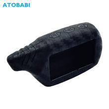 Carbon Faser Silikon Auto Schlüssel Fall Für StarLine B9 B6 A91 A61 V7 Starlionr B9 Zwei Weg Auto Alarm LCD fernbedienung Fob Abdeckung Tasche