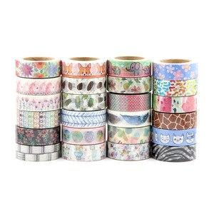 Image 5 - In vendita A Caso Della Miscela 30 rolls del nastro di washi set petalo Del Fiore Animale di Carta Giapponese Washi nastro 15mm * 10m di Alta qualità