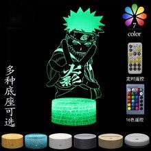TAKARA TOMY-luz 3D de Naruto Uzumaki para niños, juguete de luz de noche de Color, regalo de cumpleaños y Navidad, 7/16