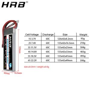 Image 3 - Hrb 3s 4S 4000mah lipo bateria 14.8v 7.4v 11.1v deans xt60 t 5S 6s 2s 22.2v 18.5v 1s rc fpv aviões zangão caminhão carro 60c peças