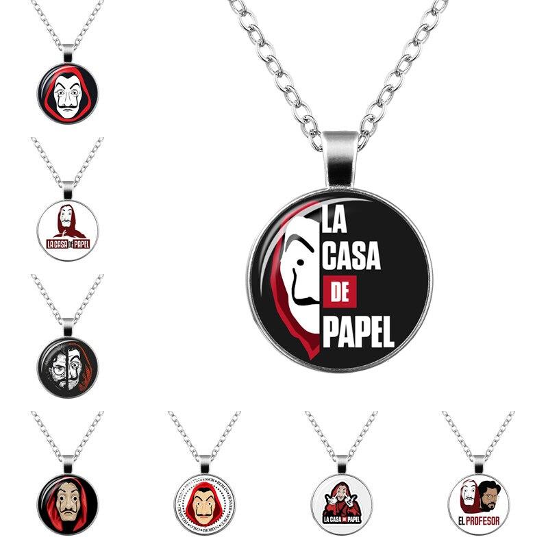 La Casa De Papel ожерелье House of Paper подвеска деньги Heist брелок Сальвадор Дали