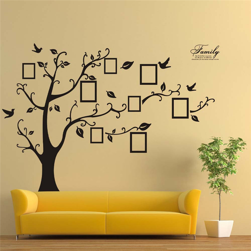 3D DIY Photo Tree PVC Wall Decals Adhesive Wall Stickers Mural Art Home Decor New Creative Comfortable Warmth Quality Exquisite