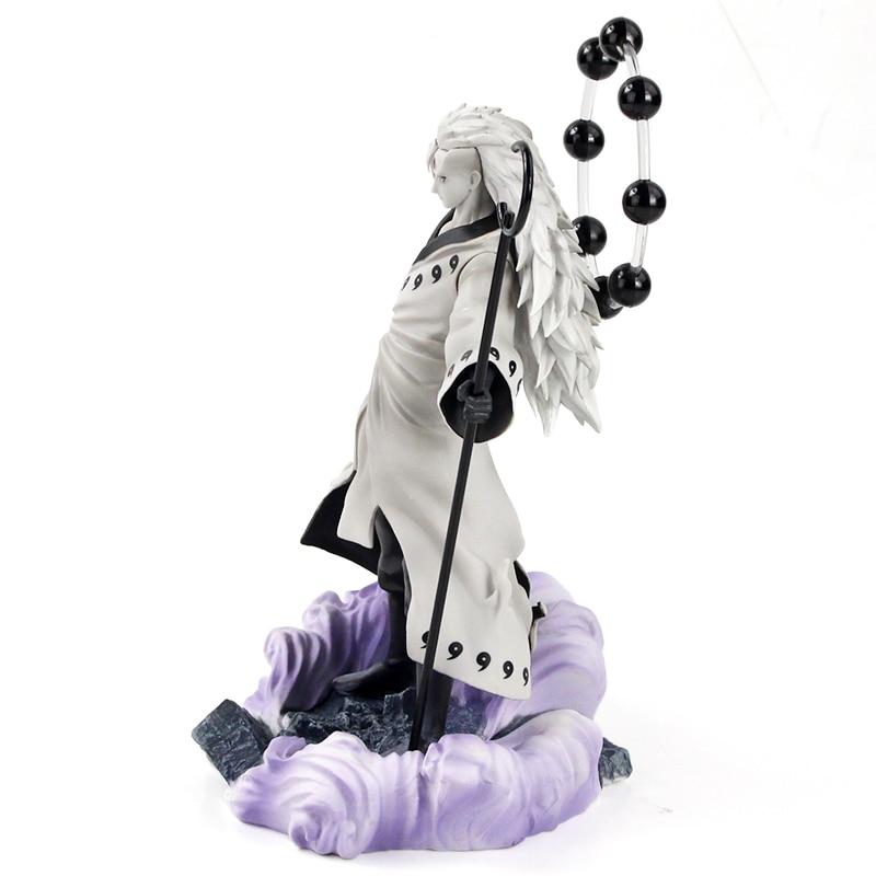 25-27cm Naruto Figure Statue Uchiha Obito Rikudou Sennin Decoration Toys PVC Collection Model Doll Gift 2