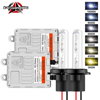 2PCS 80W HID Ballast H1 H3 H4 H7 H11 9005 9006 HB4 HID Xenon Headlight Conversion Kit 4300K 6000K 8000K Car High/Low Beam 12V