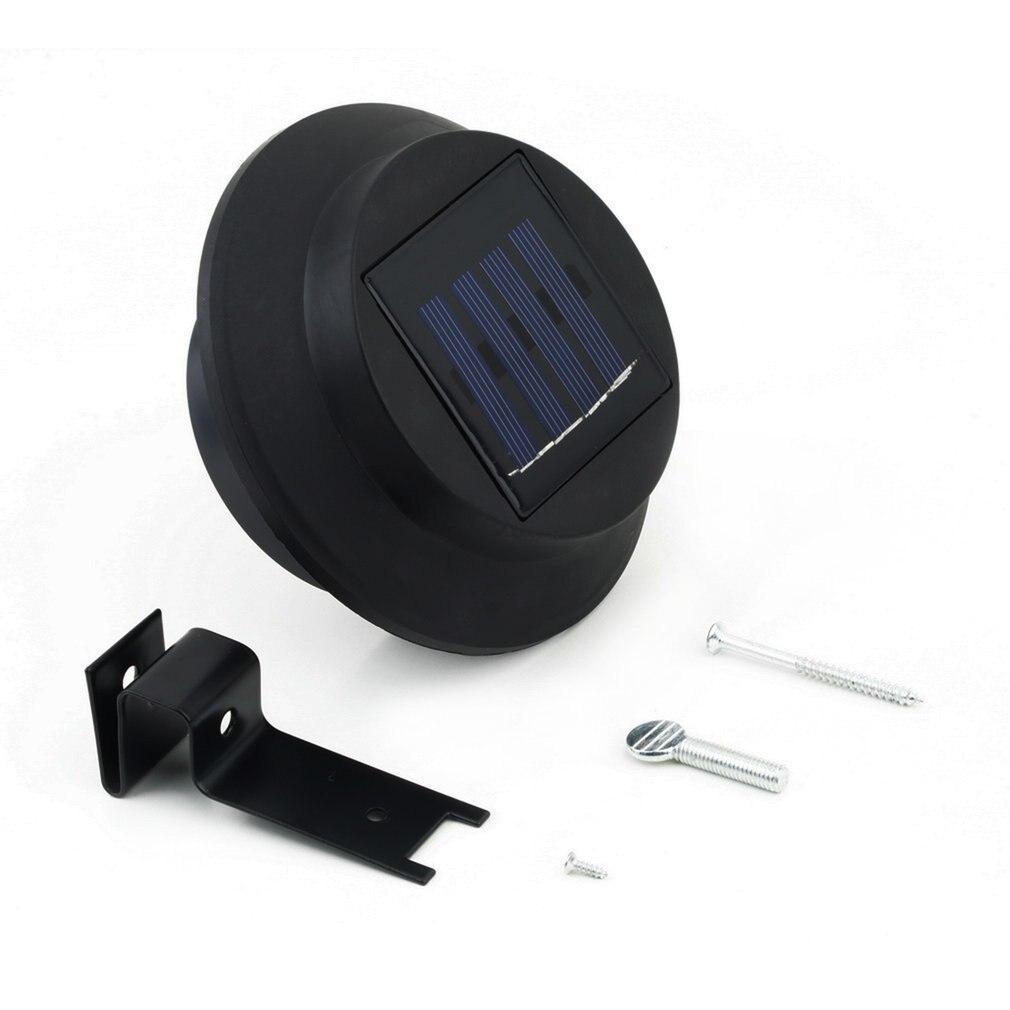 Solar Powered Outdoor Garden Light Gutter Fence Lamp Wall Roof Yard 3 LED Lamp Energy Saving Light For Outdoor Garden