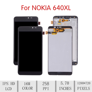 Image 2 - Orijinal NOKIA Microsoft Lumia 640 XL için LCD dokunmatik ekran Digitizer meclisi Nokia 640xl ekran FrameRM 1068 RM 1066