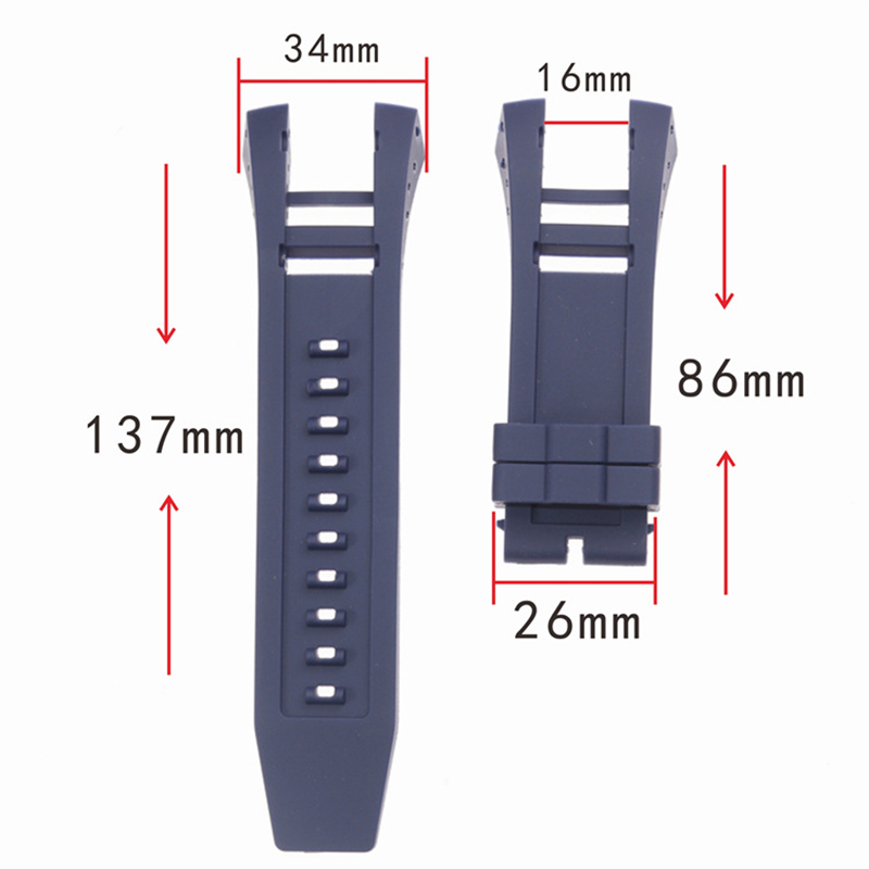 Watch accessories 34mm men's and women's sports watch strap For INVICTA watch Invera Russian diver rubber silicone strap