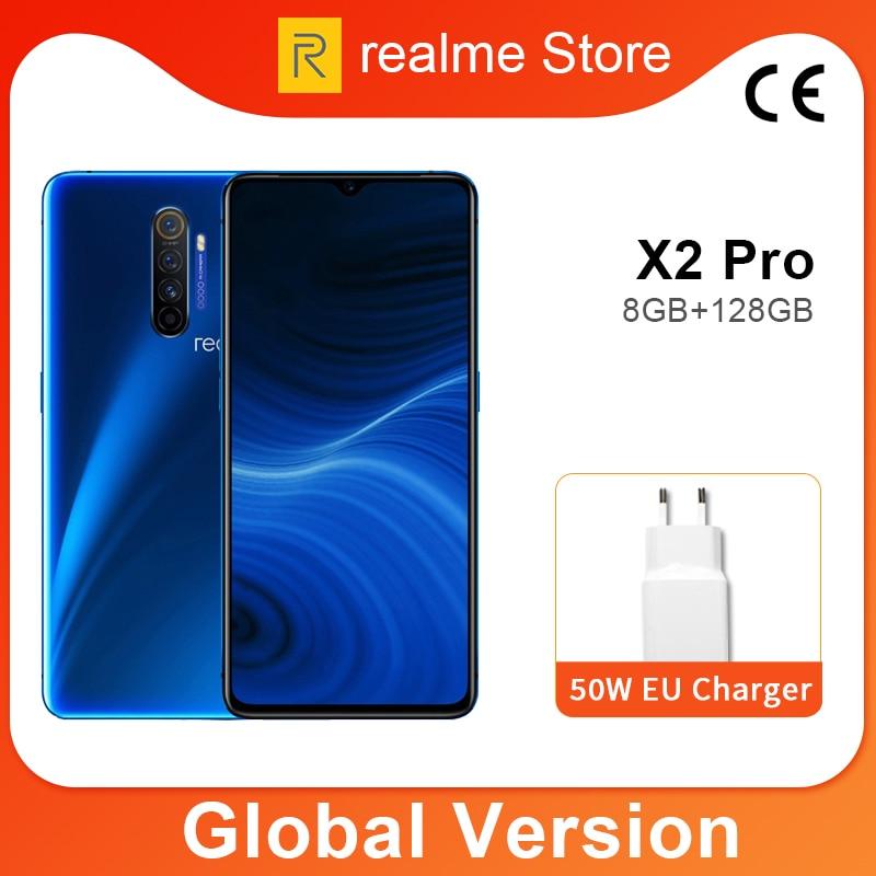 Global Version realme X2 Pro X 2 8GB 128GB Мобильный телефон Snapdragon 855 Plus 64MP Quad камера NFC мобильный телефон 50W Быстрое зарядное устройство|Смартфоны и мобильные телефоны|   | АлиЭкспресс - Snapdragon 855