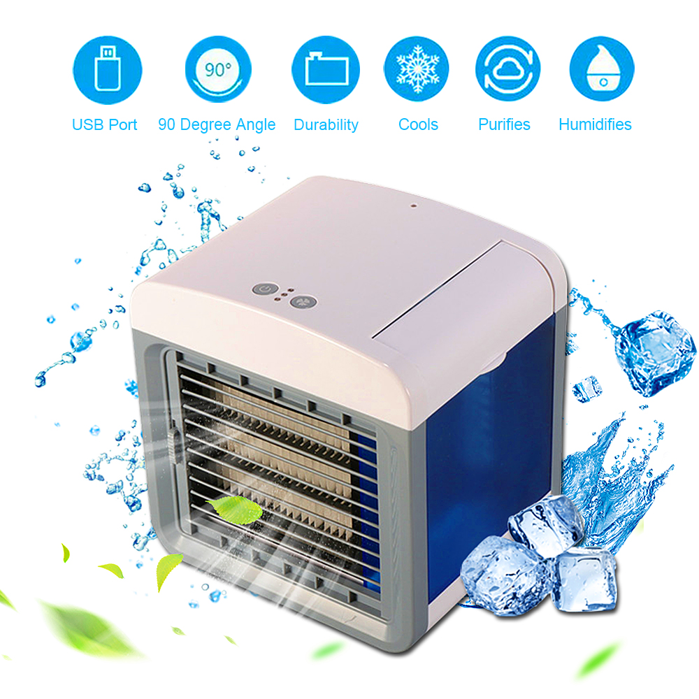 Mini Portable Air Conditioner Air Cooling Fan Desktop Air Conditioning Humidifier Purifier For Office Home Room Air Cooling Fan