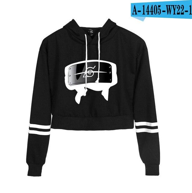 Now United Crop Top Hoodies Harajuku Japanese Anime Uzumaki Printed Hoodie Women Streetwear Fashion Cropped Sweatshirt Coat 25