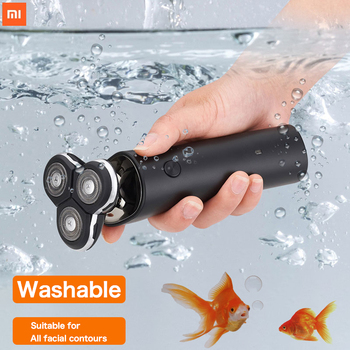 Xiaomi Mijia S300 Shaver IPX7 Waterproof Electric Shaver 3D Floating Double Blade USB Charging Smart Shaver Men's Shaver so white wireless 3d smart control usb charging electric razor shaver ipx7 usb charging shaving