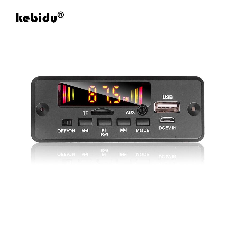 Bluetooth 5.0 rádio do carro mp3 player decodificador placa dc 5 v 12 v 32 suporte handsfree gravação fm tf sd cartão aux 2x3 w amplificador