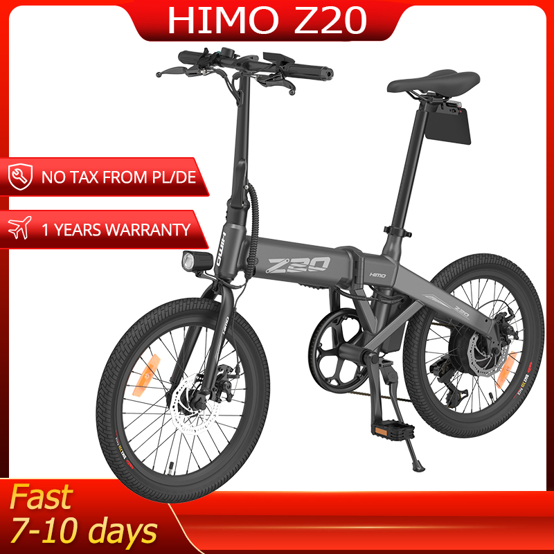 HIMO Z20 Foldable Electric Bicycle 20Inch Tire Ebike 250W 10Ah Hidden Air Pump Electric Bike Women Men MTB Mountain Bike