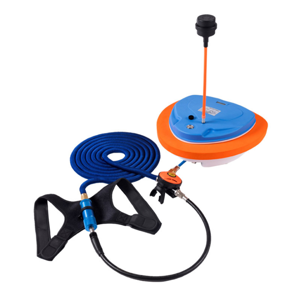 AQUAROBO Nemo Diving System,Portable&Rechargeable Floating Air Pump for Scuba Diving, Waterproof Air Compressor with 39ft Ho(China)