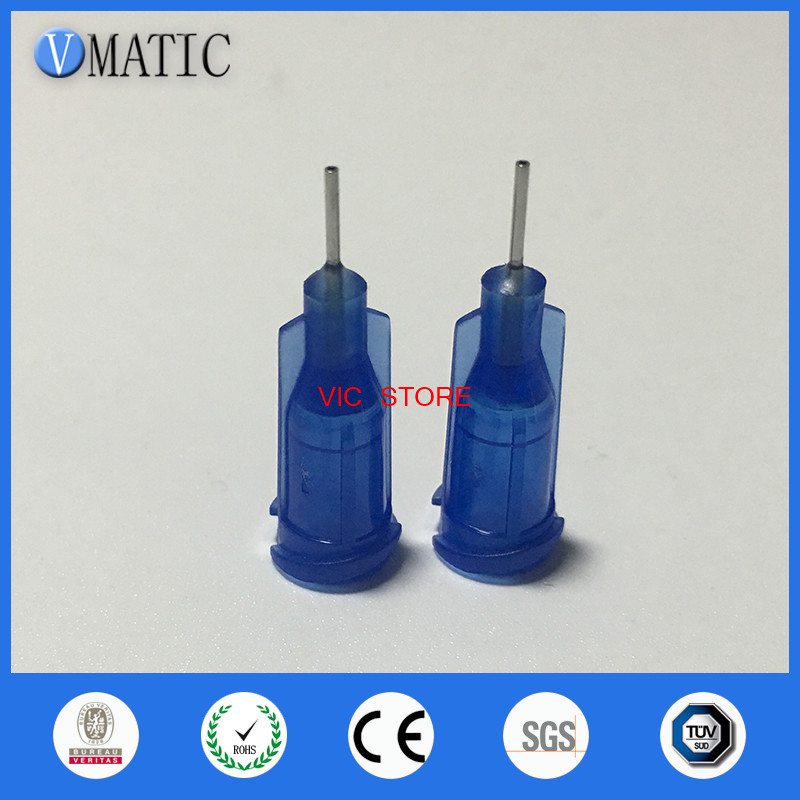 "100pcs Industrial Dispensing Blunt Tip Needle 1//4/"" Blue 22G"