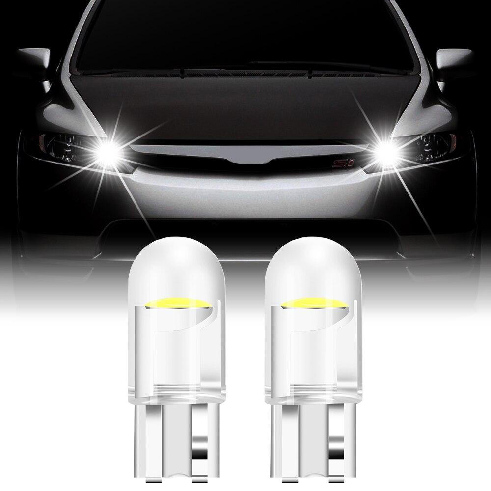 2 pçs t10 w5w wy5w cob 12v lâmpada led luzes do carro para volkswagen golf 4 5 6 7 polo tiguan passat touran scirocco besouro