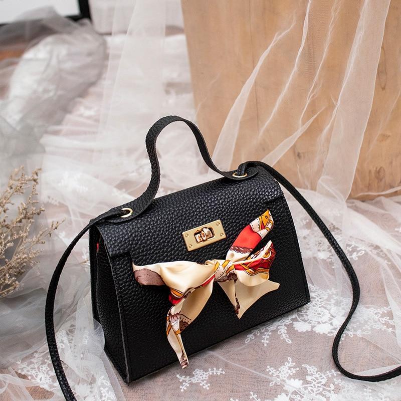 Silk Scarf 2020 Handbag Little Purse Women Shoulder Bag Messenger Bag Factory Wholesale Lady Luxury PU Fashion Cover Bag