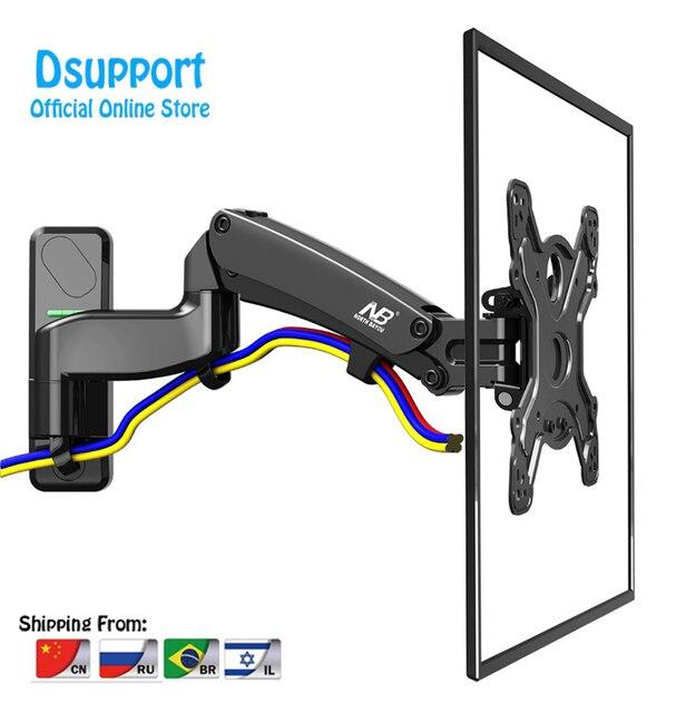 """NB F450 air press molla A Gas a doppio braccio 40 50 """"8 16 kg full motion parete di Monitor staffa LCD tv AL PLASMA montare lcd di sostegno del supporto"""