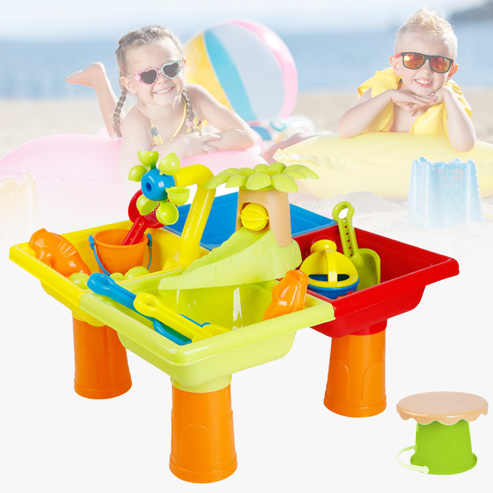 Beach Toy Set Sandglass Play Multipurpose Outdoor Activity Seaside Digging Pit Plastic Summer Sand Water Table Bucket Garden