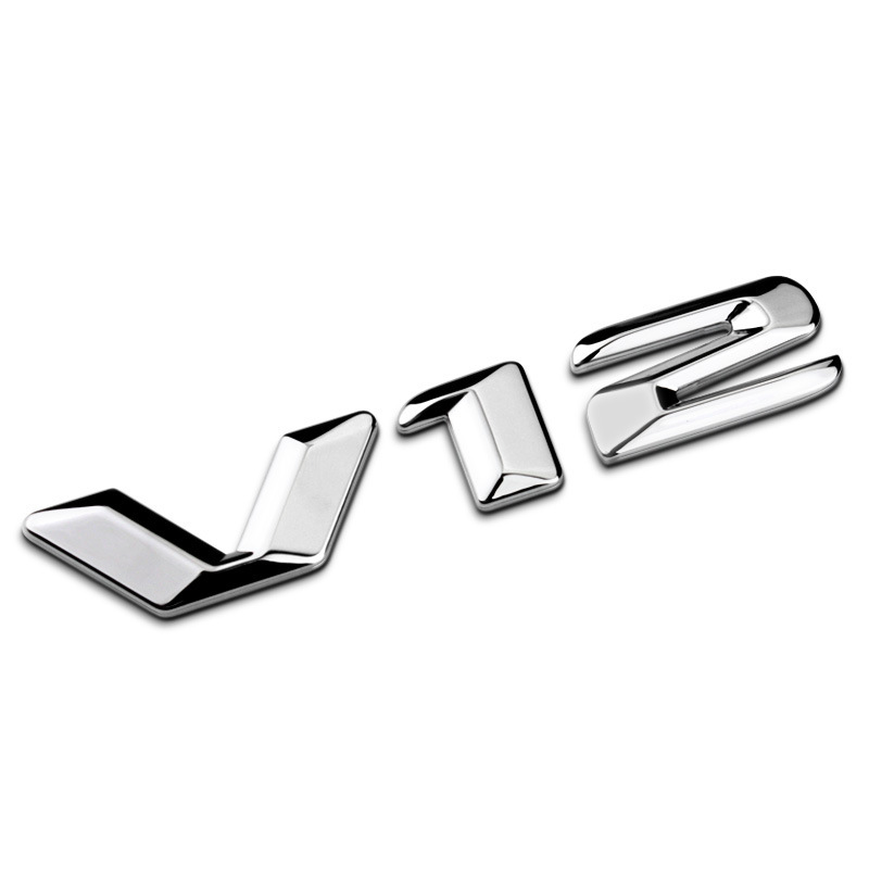 Suitable for Car Mercedes W222 Modified Metal V12 Side Label New Style S-Class S400 Car Logo S600 Fender Standard