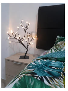 Table-Lamp Lighting Blossom Tree-Night-Light Party-Decoration Cherry Fashion Home White