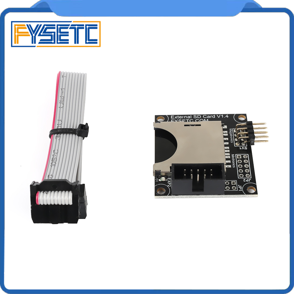 3D Printer Parts SD Expansion Module External Card Reader Connector Adapter SD Reader For F6  4.3