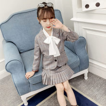 Teenage Girls Clothing Sets Spring Autumn Blazer+Plaid Pleated Skirt 2PCS Tracksuit for Girls Suit School Uniform Girls Clothes teenage girls clothing set kids tracksuit for girls wool plaid skirt suit autumn winter school girls clothes children clothes