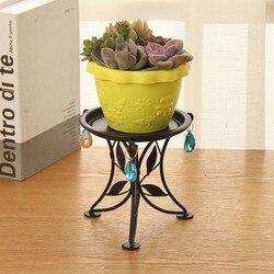 Stojak na doniczki metalowa konstrukcja Bonsai doniczkowa roślina stojak gospodarstwa domowego balkon doniczka półka uchwyt na doniczki Home Decor|Tace do garnków|   -