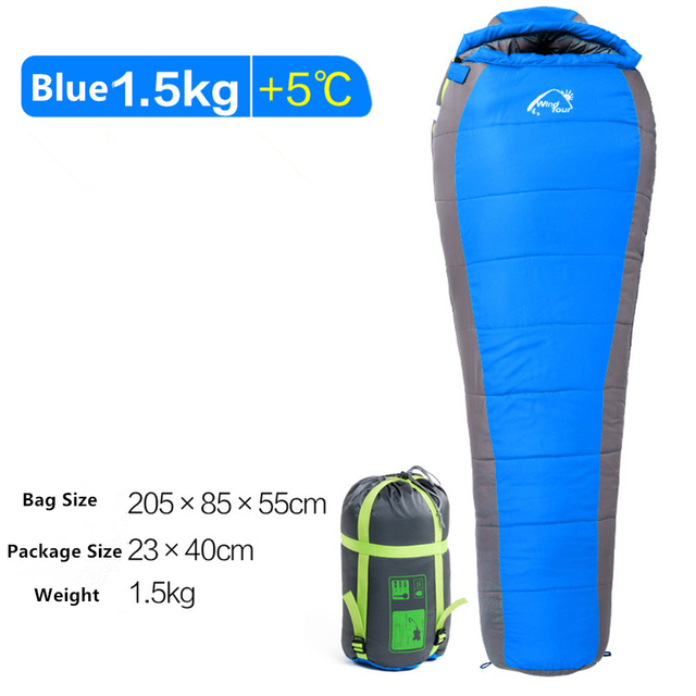 Mummy Sleeping Bag  Cotton Ultralight Outdoor Hiking Climbing Sleeping Bag Splicing Thickened Thermal Heated Sleep Bag in Winter 3