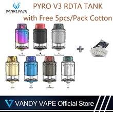 Vandy vape Пиро V3 RDTA майка с 5 шт./упак. для детей возрастом от 4 мл/2 мл Ёмкость 0.33ohm Совместимость Vandyvape коробка мод электронная сигарета