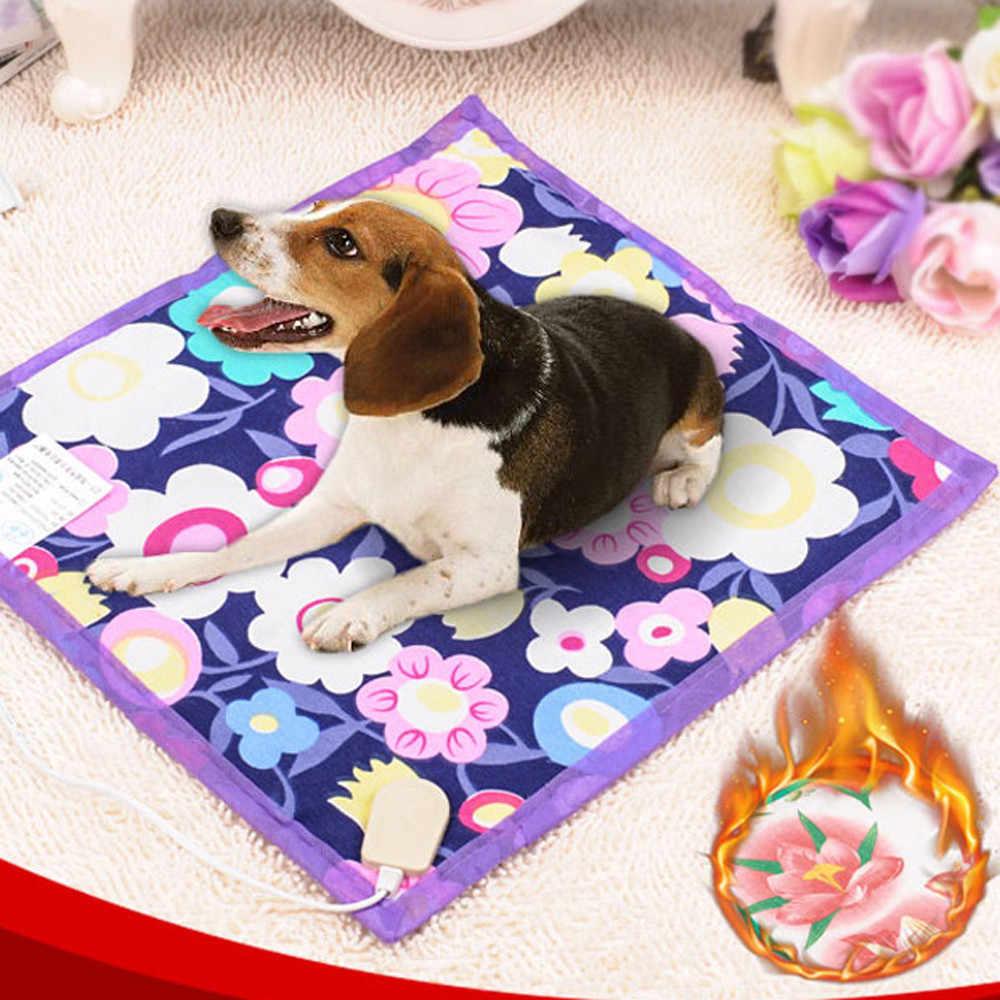 2019 Transer créatif chaud! 40*40cm animal de compagnie chaud électrique coussin chauffant tapis couverture lit chien chat livraison directe coussin électrique pour animaux de compagnie