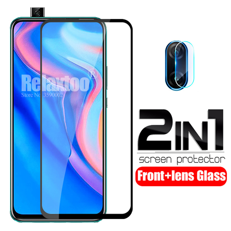 2 in 1 protective Glass For huawei p smart Z tempered Glass on hauwei p smart 2019 psmart Z STK-LX1 camera lens protector Film 1