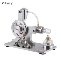 Aibecy Hot Air Stirling Engine External Combustion Model Electricity Power Generator with LED for Physics Education