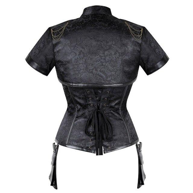 Новый готический костюм стимпанк винтажные Корсеты с коротким