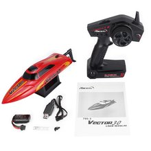 795-3 30km/h 2.4G Brushed High Speed RC Racing Boat Speedboat Ship with Water Cooling System Self-righting Kids Gift