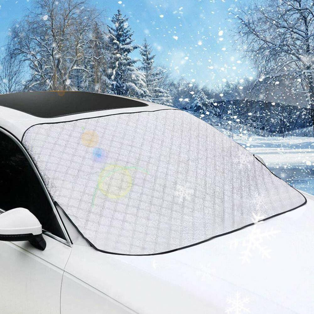 190*85cm Car Windshield Snow Cover Winter Ice Frost Guard Sun Shade Car Window Screen Sunlight Frost Ice Snow Dust Protector