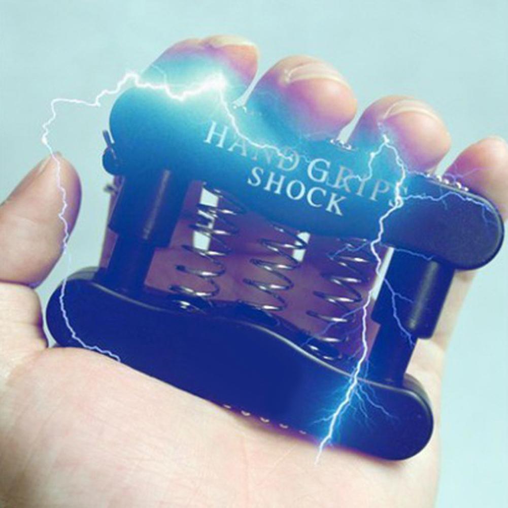 Funny Mini Electric Shock Hand Grip Keychain Safety April Fool Prank Trick Toy