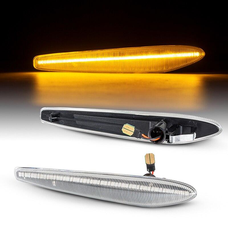 2 Stuks Dynamische Amber Led Side Marker Richtingaanwijzer Sequential Blinker Licht Voor Alfa-Romeo Boera Typ 939 2005-2010 159 Typ 939 2005
