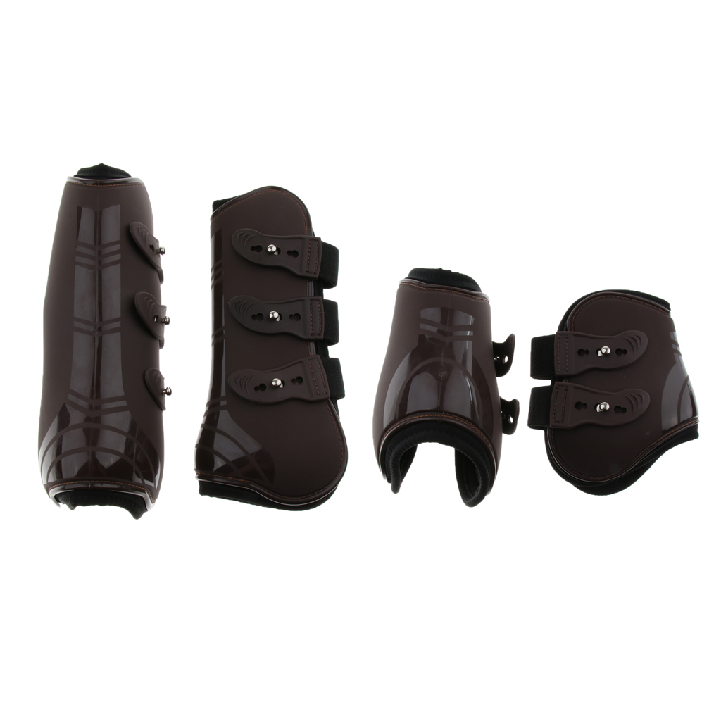 2 Pairs Open Front Horse Exercise Jumping Boots, Tendon And Fetlock Leg Support Boots For Training, Riding, Eventing