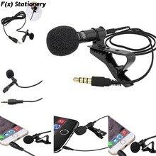 Universal portátil 3,5mm Mini auricular micrófono solapa Lavalier Clip micrófono para conferencia de enseñanza guía micrófono de estudio