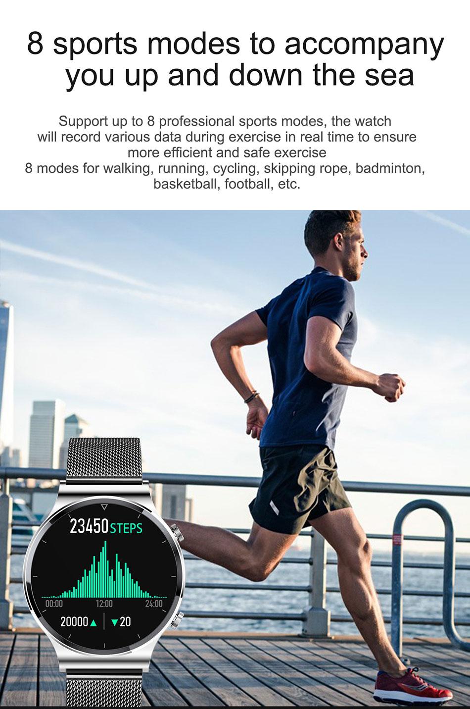 H8073188deb744885b001eebfadd611269 LIGE 2021 New Smart watch Men IP68 waterproof watch Multiple sports modes heart rate weather Forecast Bluetooth Men Smart watch