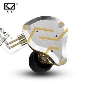 Image 3 - سماعات أذن KZ ZS10 Pro داخل الأذن هايبرد 4BA + 1DD HIFI Bass سماعات أذن معدنية مزودة بخاصية إلغاء الضوضاء سماعات مراقبة