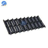 Uds 18650 soporte de batería 10x celular de plástico para 18650 separador de batería de célula cilíndrica soporte organizadores caso