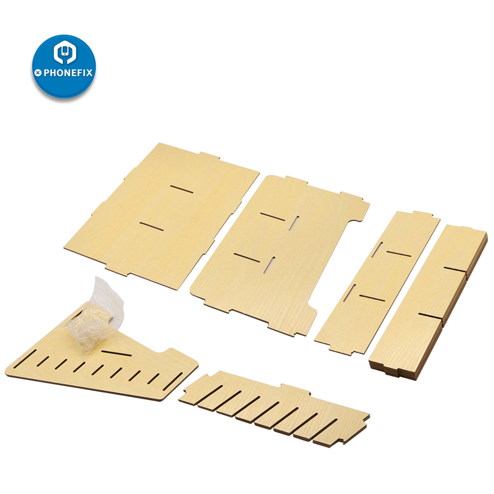 Tools : 24 Grids Wooden Storage Box Cell Phone Holder Desktop Organizer Storage Box Mobile Phone Repair Tools Storage Box