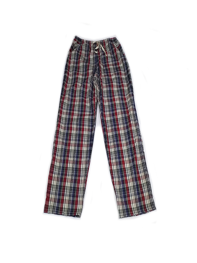 Pajamas Sleepwear Pants Bottoms Plaid Men's Summer Unisex for Spring