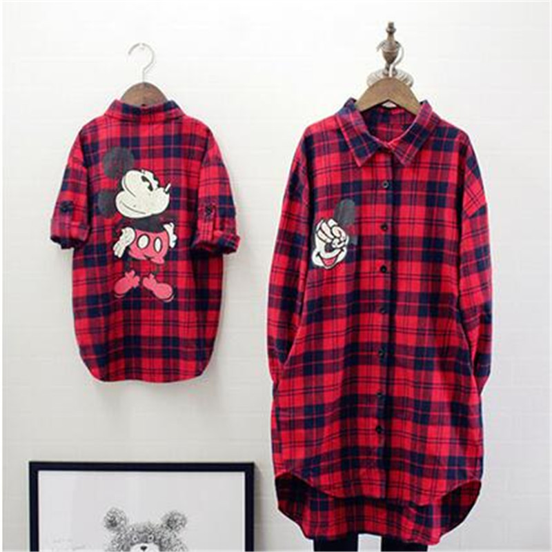 Spring Winter Family Matching Clothes Baby Girl Red Lattice Cardigan Shirt Mother And Daughter Clothes Windbreaker Family Look