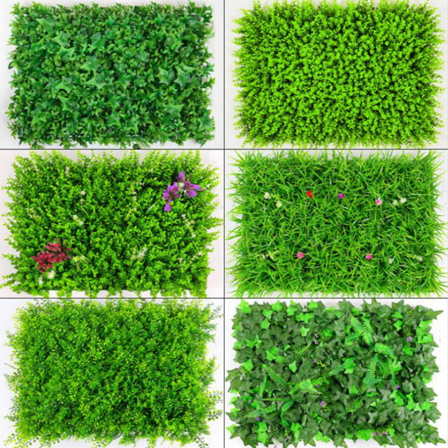 Tapete de plantas verdes artificiais 40x60cm, tapete para casa, jardim, parede, paisagem, plástico verde, gramado, porta, backdrop imagem grama