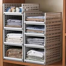 Hot Detachable Clothes Organizer Wardrobe Partition Board Drawer Basket Storage Box(China)