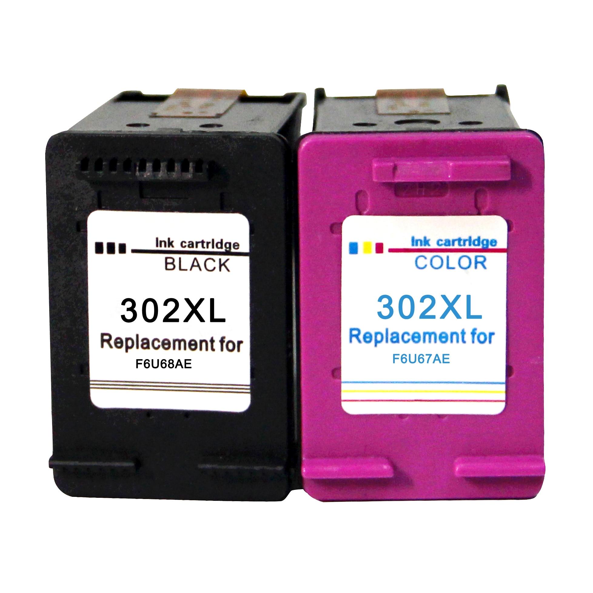 Черные картриджи Ewigkeit и триколор для HP 302 совместимые с принтерами 2130 2132 2134 3630 Officejet 5220