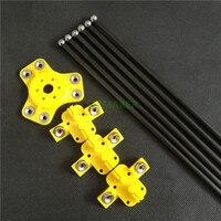 Reprap Kossel Xl Rode Plastic Magnetische Effector + Vervoer + 300 Mm Carbon Buis Diagonaal Push Staven Kit Voor Delta kossel Diy 3d Printer
